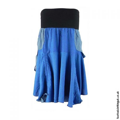 Blue-Tie-up-Short-Skirt