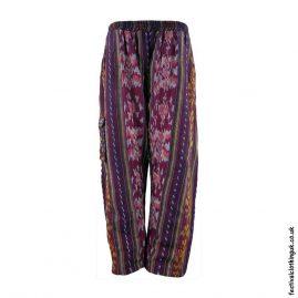 Burgundy-Pattern-Woven-Festival-Trousers