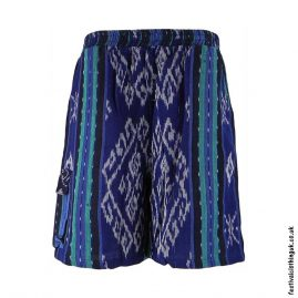 Gheri-Weave-Long-Festival-Shorts-Blue