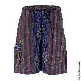 Gheri-Weave-Long-Festival-Shorts-Green