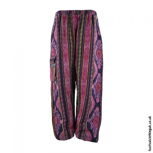 Pink-Pattern-Woven-Festival-Trousers