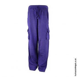 Plain-Festival-Cargo-Trousers-Purple