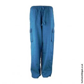 Plain-Festival-Cargo-Trousers-Teal