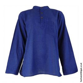 Plain-Festival-Grandad-Shirt-Blue