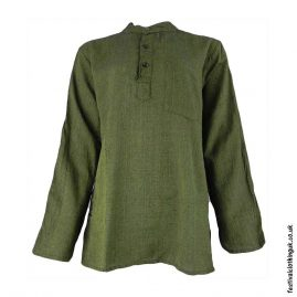 Plain-Festival-Grandad-Shirt-Green