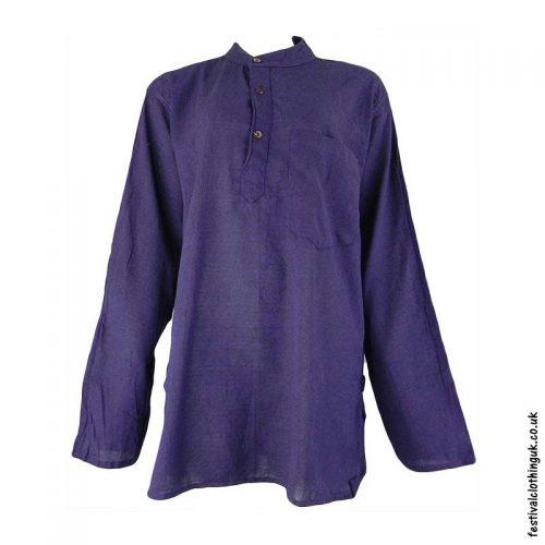 Plain-Festival-Grandad-Shirt-Purple