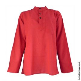 Plain-Festival-Grandad-Shirt-Red