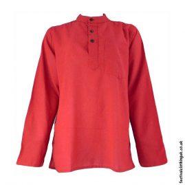 Plain-Festival-Grandad-Shirt-Red