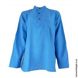 Plain-Festival-Grandad-Shirt-Turquoise