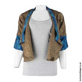Recycled-Saree-Open-Shrug-Beige