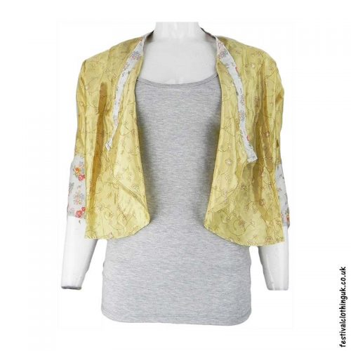 Recycled-Saree-Open-Shrug-Gold