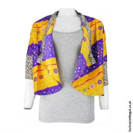 Recycled-Saree-Open-Shrug-Orange