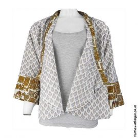 Recycled-Saree-Open-Shrug-White