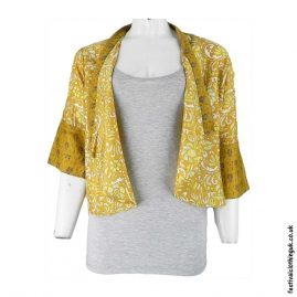 Recycled-Saree-Open-Shrug-Yellow