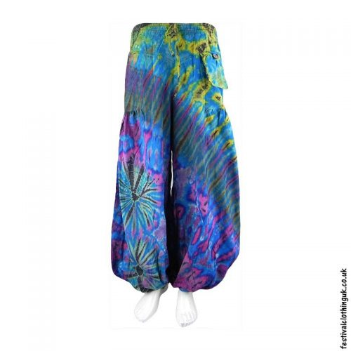 Turquoise-Tie-Dye-Baggy-Cotton-Festival-Trousers