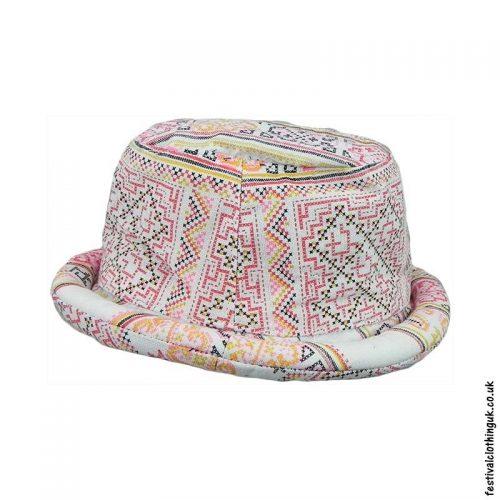 White-Multicoloured-Rimmed-Festival-Hat