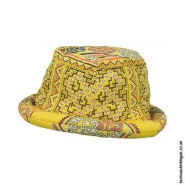 Yellow-Multicoloured-Rimmed-Festival-Hat