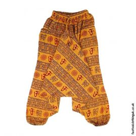 Ali-Baba-Harem-Festival-Pants-Orange-Om