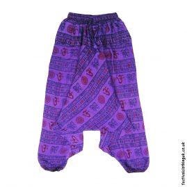 Ali-Baba-Harem-Festival-Pants-Purple-Om