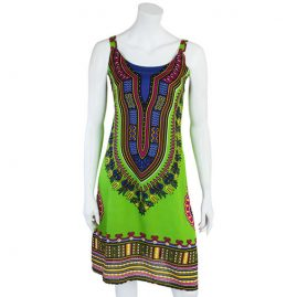 Short-Dashiki-Festival-Dress-Green