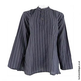 Striped-Collarless-Festival-Grandad-Shirt-Charcoal