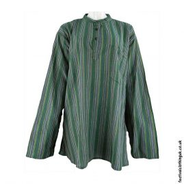 Striped-Collarless-Festival-Grandad-Shirt-Green1