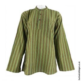 Striped-Collarless-Festival-Grandad-Shirt-Green2