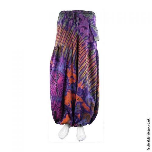 Multicoloured-Tie-Dye-Baggy-Cotton-Festival-Trousers