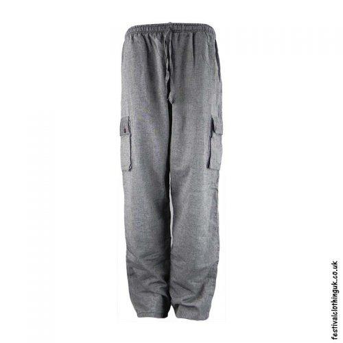 Plain-Festival-Cargo-Trousers-Grey