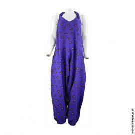 Ali-Baba-Harem-Dungarees-Purple-Bee-Print