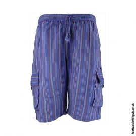 Blue-Striped-Cotton-Festival-Shorts