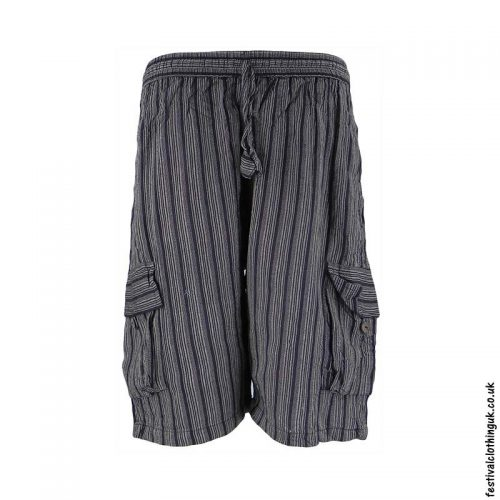Charcoal-Striped-Cotton-Festival-Shorts