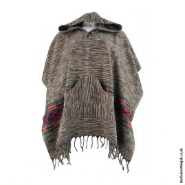 Festival-Hooded-Poncho-Brown
