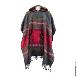 Festival-Hooded-Poncho-Grey