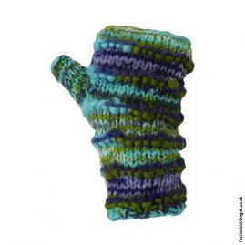Festival-Wool-Wrist-Warmer-Tube-Gloves-Turquoise