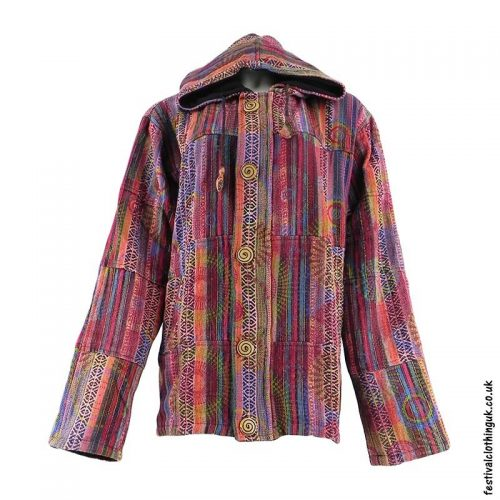 Gheri-Cotton-Hooded-Festival-Jacket-Red
