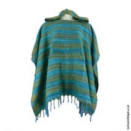 Green-Soft-Acrylic-Hooded-Festival-Poncho