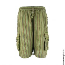 Green-Striped-Cotton-Festival-Shorts