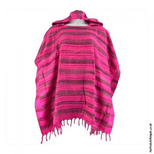 Pink-Soft-Acrylic-Hooded-Festival-Poncho