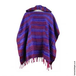 Purple-Soft-Acrylic-Hooded-Festival-Poncho