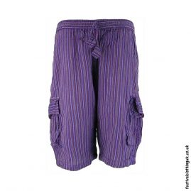 Purple-Striped-Cotton-Festival-Shorts