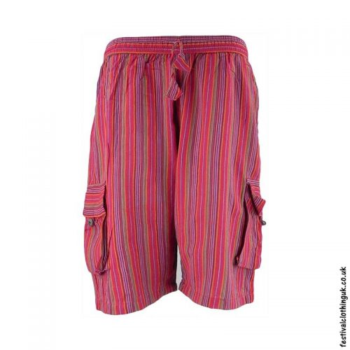 Red-Striped-Cotton-Festival-Shorts