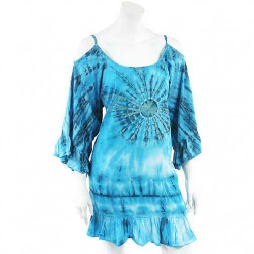 Turquoise-tie-dye-festival-Dress