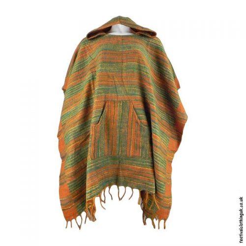 Green-Soft-Acrylic-Hooded-Festival-Poncho