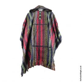 Multicoloured-Thick-Weave-Cotton-Hooded-Festival-Poncho