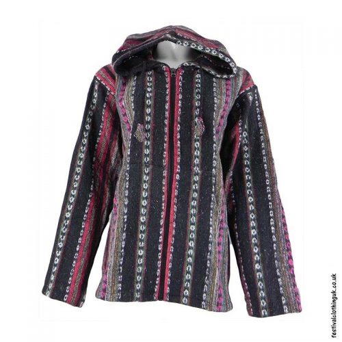 Pixie-Hooded-Thick-Weave-Festival-Jacket-Black