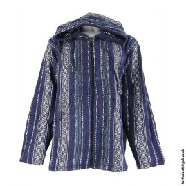 Pixie-Hooded-Thick-Weave-Festival-Jacket-Blue