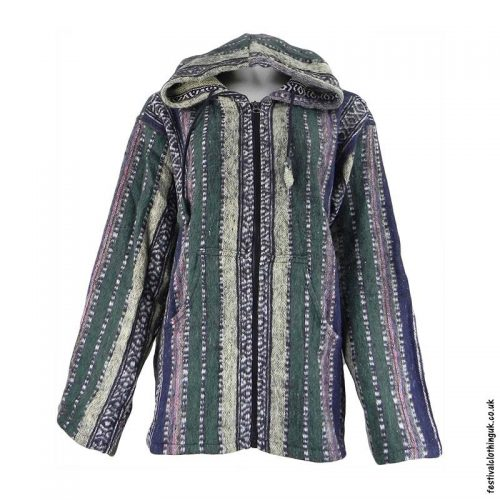 Pixie-Hooded-Thick-Weave-Festival-Jacket-Green
