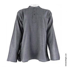 Plain-Festival-Collarless-Grandad-Shirt-Grey