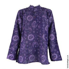 Purple-Sun-&-Moon-Grandad-Shirt